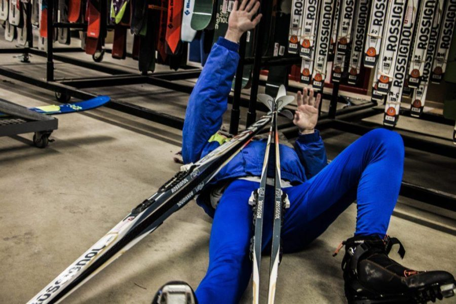 World Renowned Cross-country Skier Trampled at Local Ski Swap SATIRE