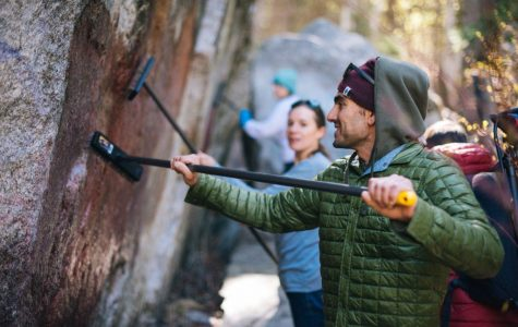 Bouldering Routes Damaged by Vandalism