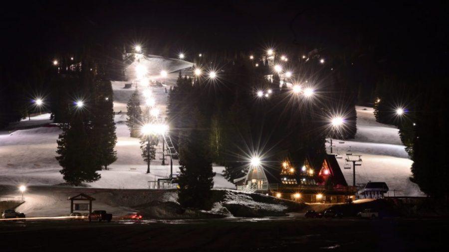Night Skiing at Brighton Ski Resort, March 5, 2016