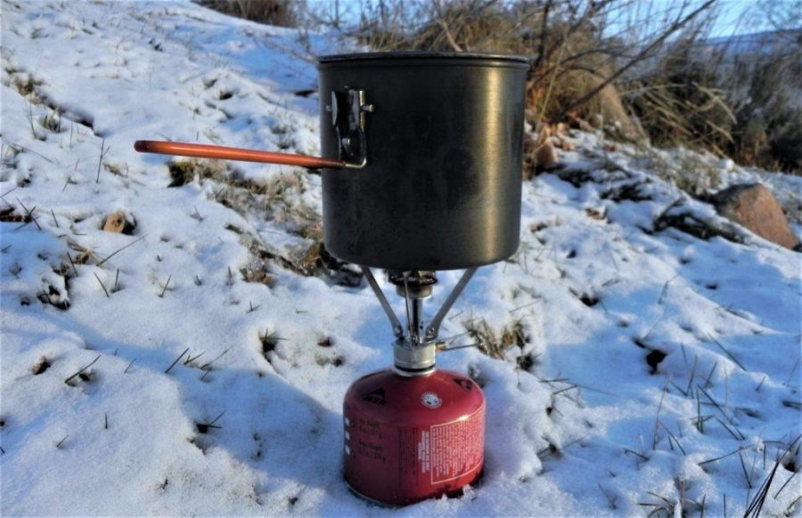 winter cooking in the backcountry
