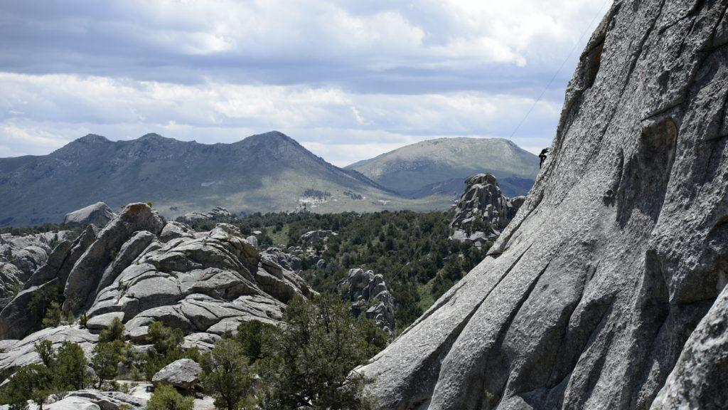 Rock climbing with Ben, Peter, Colin, Claire, John, Brian, and Kim at the City of Rocks National Reserve in Idaho on Saturday, June 10, 2017  (Photo by Kiffer Creveling)