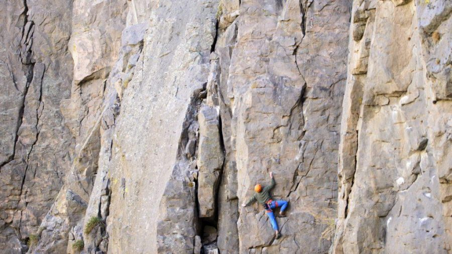 Rock climbing in Owens River Gorge near Bishop, CA with Nik, Trevor, Jill, Felix, and Kristen on Saturday, November 5, 2016