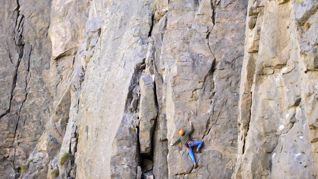 Rock climbing in Owen's River Gorge near Bishop, CA with Nik, Trevor, Jill, Felix, and Kristen on Saturday, November 5, 2016
