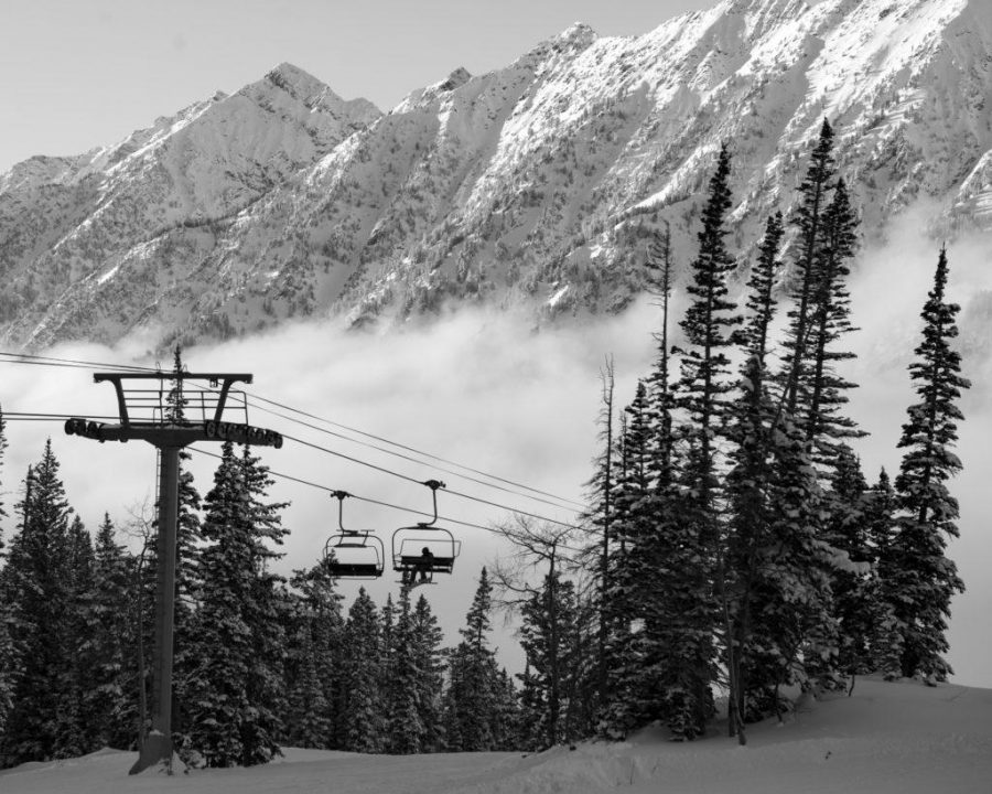 Skiing up at Snowbird Mountain Resort with Polly Creveling on Monday, December 26, 2016. Photo by Kiffer Creveling.