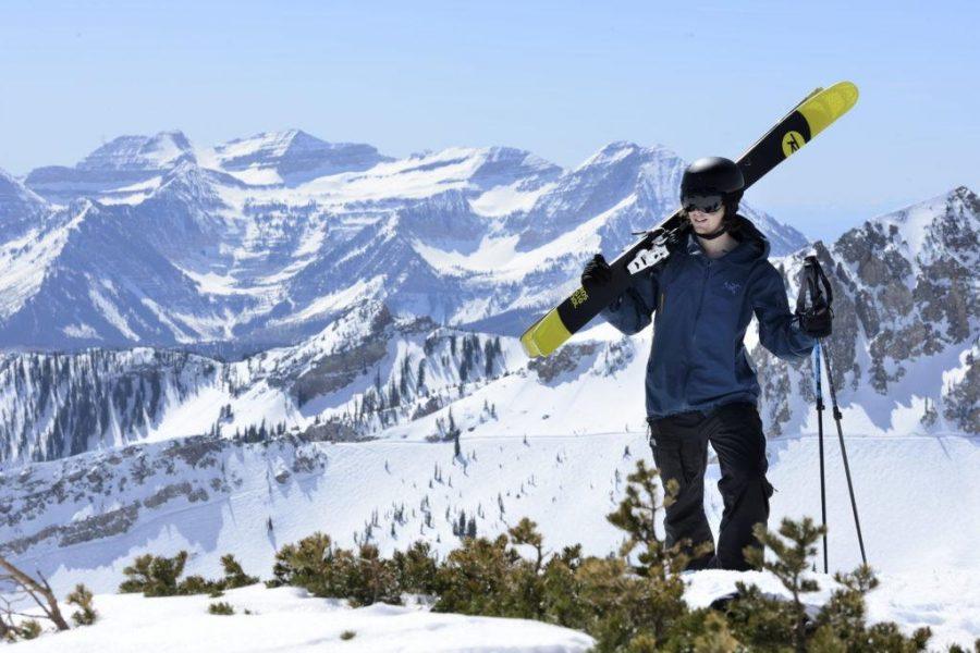 Skiing+up+at+Snowbird+and+doing+the+Baldy+Chutes