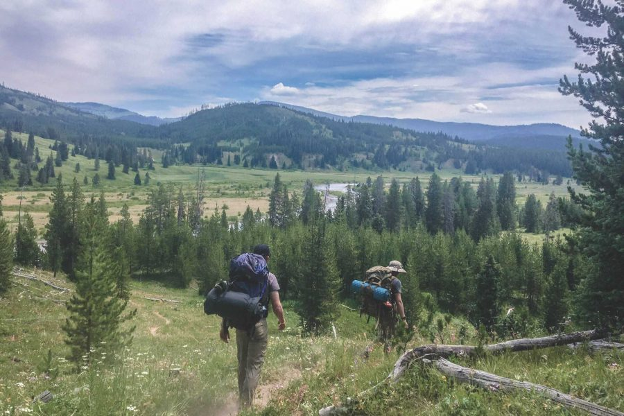A+backpacking+trail+in+the+southern+territory+of+Yellowstone+National+Park