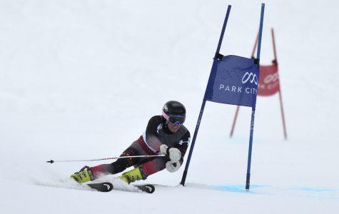 University of Utah men's ski team competes in the Giant Slalom at Park City, Utah (Park City Mountain Resort) on Wednesday, January 6, 2015