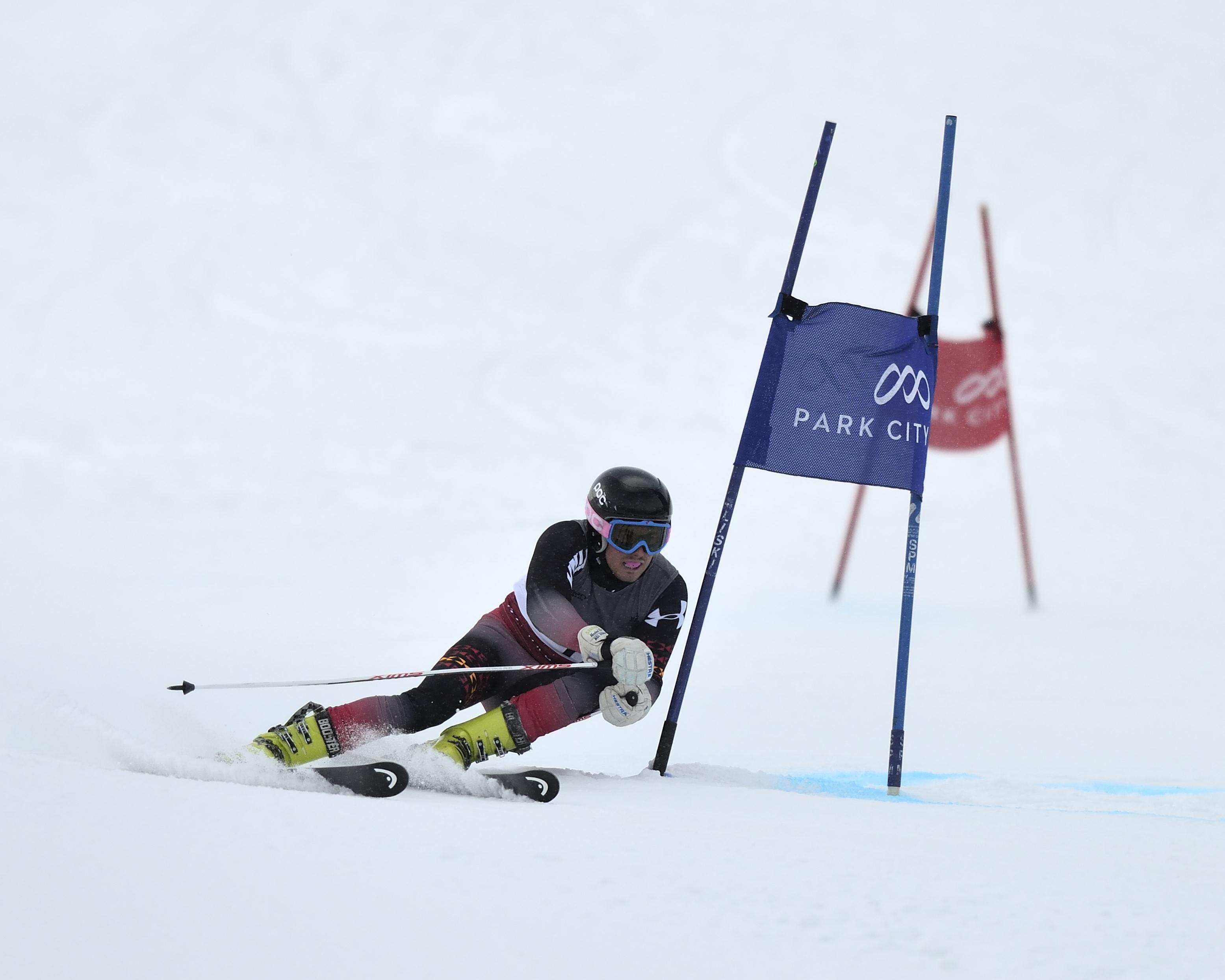 University of Utah men's ski team competes in the Giant Slalom at Park City, Utah (Park City Mountain Resort) on Wednesday, January 6, 2015
