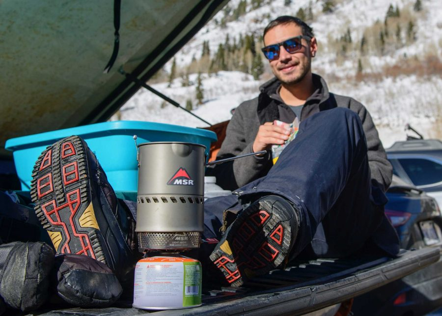 Jet boils are another popular cooking method you can find being used in ski parking lots.