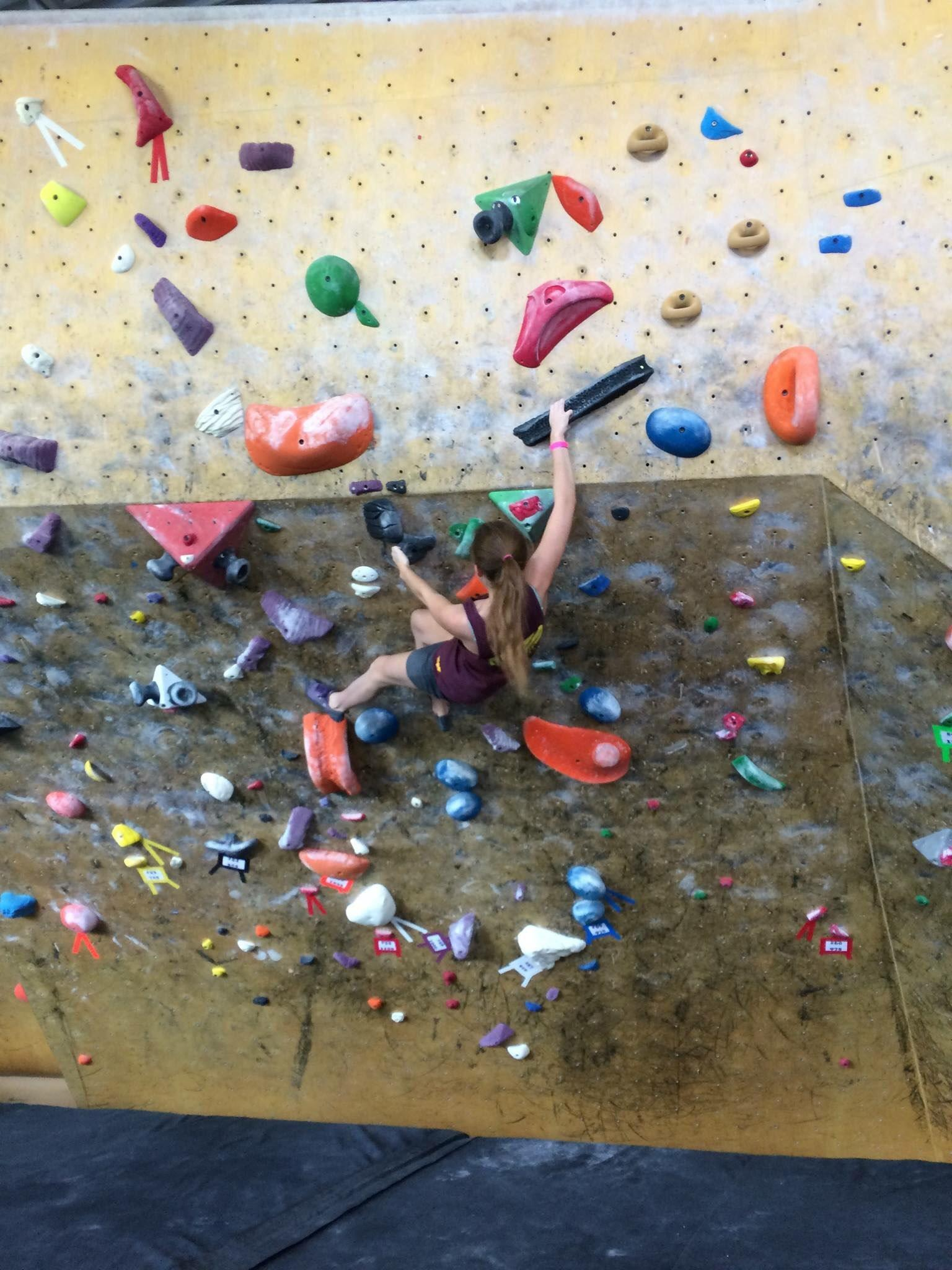 A member of the University of Utah's official climbing club.