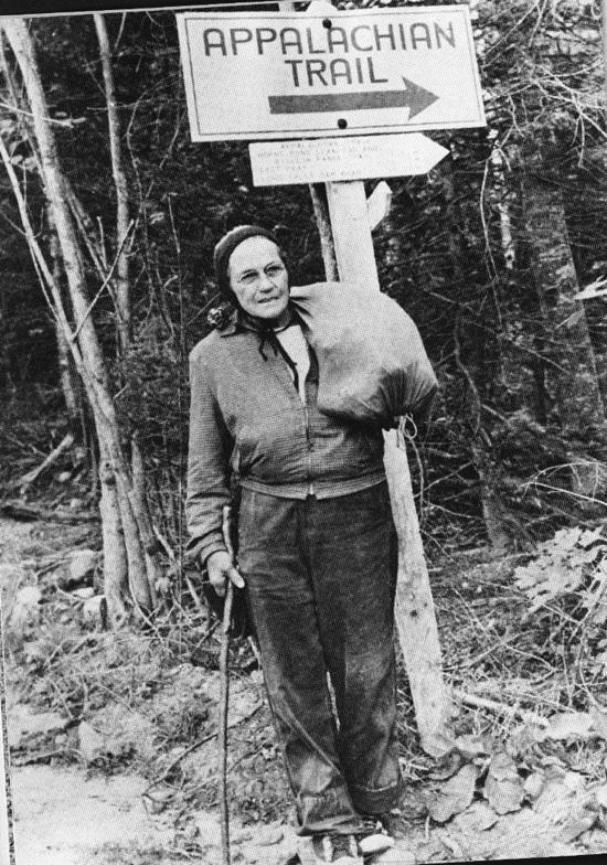 Emma Gatewood, the first woman to hike the 2,168-mile Appalachian Trail