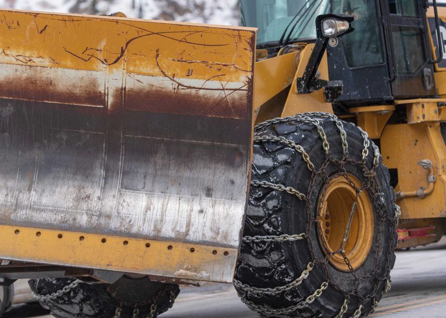 Chains are used during dangerous snow conditions.