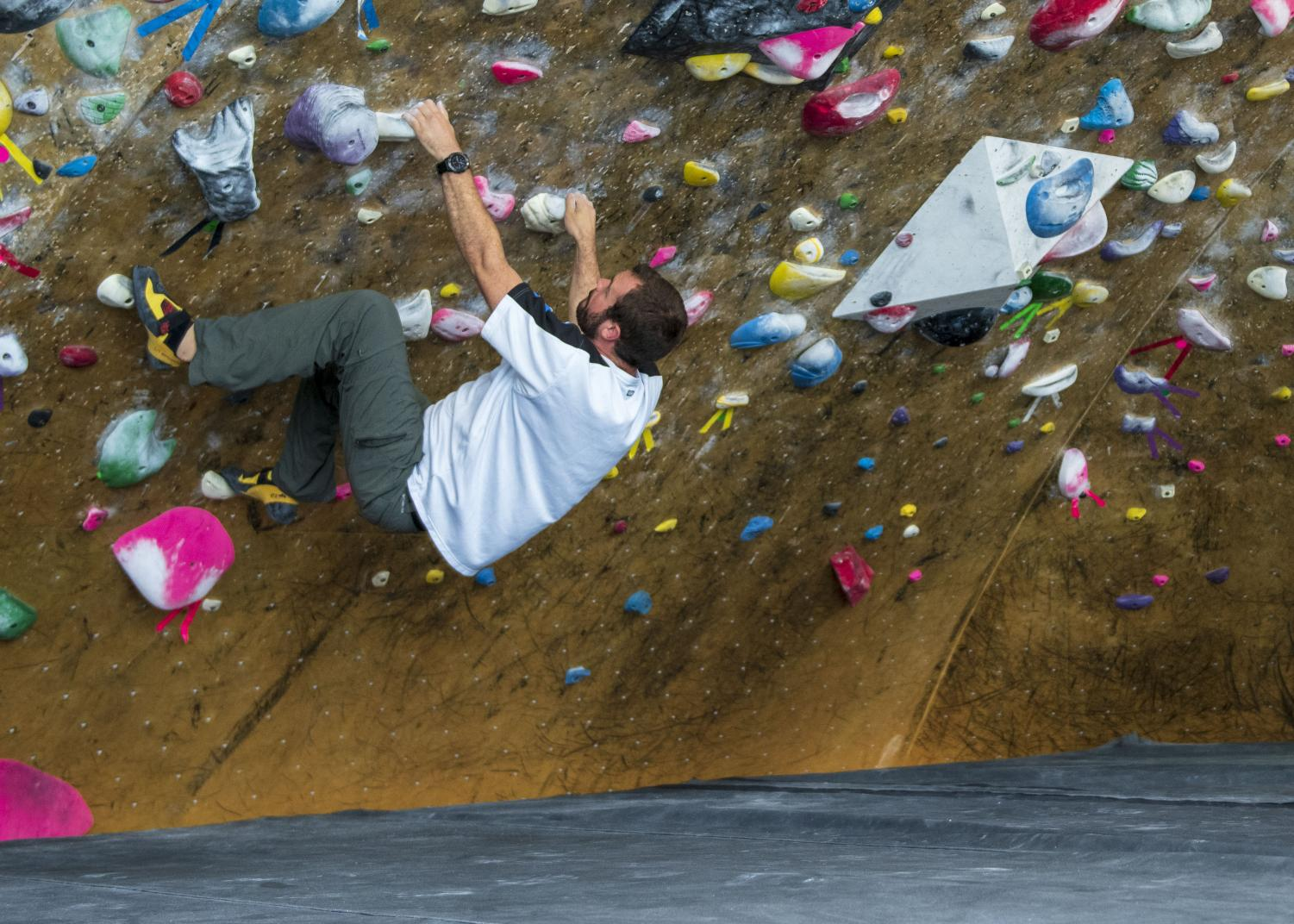 Photos by Peter Creveling. Featured: Climber at the Front Climbing Gym in Salt Lake City, Utah.