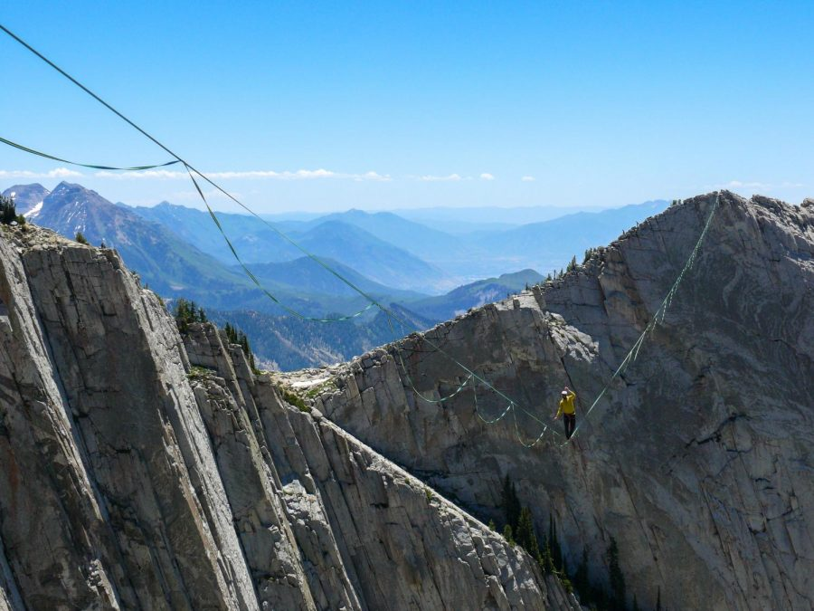 Highlining Lone Peak